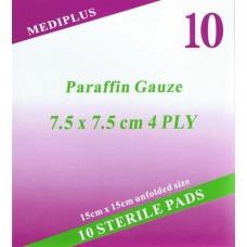 פד פרפין לטיפול בכוויות פצעי לחץ, השתלות עור ופצעים עמוקים סטרילי